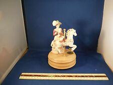 "RARE Victorian Era Moving Child On Carousel Horse""You Are My Sunshine"" Music Box"