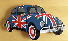 Beetle Fridge Magnet, Union Jack VW Beetle Car Fridge magnet