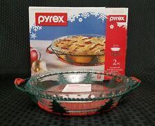 Pyrex 2 Piece Pie Plate Serveware Set Christmas Limited Edition