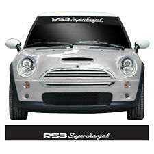 R53 Supercharged Car Windscreen Sunstrip For Mini Cooper S & JCW Vinyl Sticker