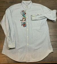 Vintage 90s ACME CLOTHING CO Looney Tunes Golf Button Down Large Shirt 1994