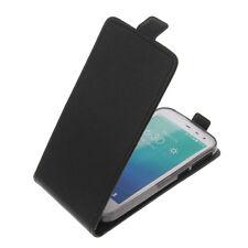 Funda para PhiComm CLUE M Smartphone Estilo Flip Funda Protectora Negro