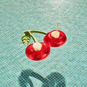Cherry Shaped Red Swimming Pool Drink Holder Adult/Kid Inflatable Pool ToolJ*wf