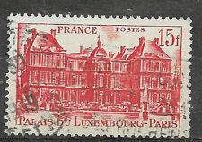 Timbre FRANCE Oblitéré YT 804 MI 822 Palais de Luxembourg 15f Rouge 1948