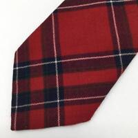 Lochcarron Inverness Mens Red Wool Tartan Tie