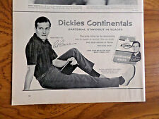 1959 Dickies Continentals Slacks Pants Ad  Inspired by Singer Pat Boone