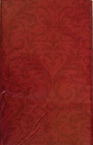 Various Sizes / Colors Christmas Vinyl / Flannel Swirl Damask Tablecloths Elrene