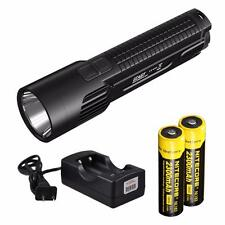 Nitecore EC4GT 1000 Lumens 519 Yards LED Flashlight  w/ 2x 18650s & Charger