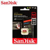 SanDisk Extreme 64GB A2 MicroSDXC Tarjeta de Memoria 160MB/s UHS-I V30 4K Video