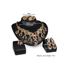 Women's Indian Ethnic Bollywood Gold Plated Wedding Fashion Jewelry Necklace Set