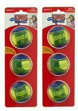 KONG SQUEEZZ ACTION  DOG TOYS - Set of (2) 3 ct Medium BALLS (6 total!)