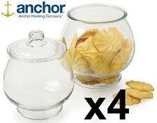 Set di 4 Anchor Hocking GRANDI VETRO Cookie Storage BARATTOLI