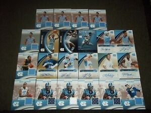 Lot of 22 North Carolina Tar Heels jersey/auto/serial cards- Worthy/Nicks/Seager