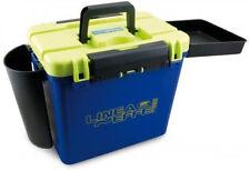 Super Blue/Yellow Seat Fishing Box + Side Tray /Rod Holder /Bait Box - Lineaeffe