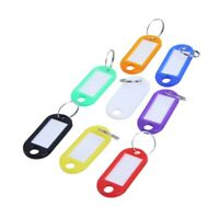 32x Multi-colors Plastic Key Fob ID Tags Luggage ID Labels with Split Ring W4N6
