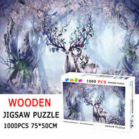 1000 Pieces Wooden Jigsaw Puzzles for Adults Educational Large Puzzle Toy Gift