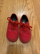 Vans Toddlers Size 8 Unisex  Solid Red NEW