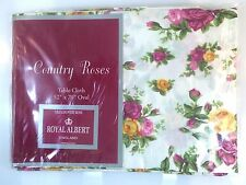 "Royal Albert Old Country Roses Tablecloth 52"" X 70"" Oval ~ New in Package"