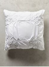 Anthropologie CLAREMORE PULI ONE Euro Sham WHITE cotton ~ NEW WITH TAGS!