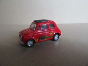 56M Toy Friction China Fiat 500 Red Tested Works Well 1:43