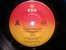 TOTO VINYL SINGLE RECORD I'LL BE OVER YOU 1986