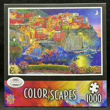 *NEW Master Pieces Color Scapes Linen Jigsaw Puzzle EVENING GLOW 1000 Pieces
