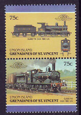 UNION ISLAND LOCO 100 CLASS Y 14 LOCOMOTIVE UK STAMPS MNH