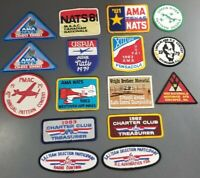 Vintage Academy of Model Aeronautics AMA and RC Airplanes Patch Lot of 16