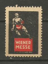 Austria/Vienna 1947 Trade Fair poster stamp/label
