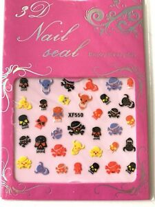 Halloween Art 3D Design Nail Sticker Decal Gift Decoration buy 5 get 1 free