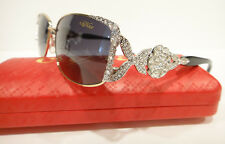 CAVIAR 5597 SUNGLASSES SILVER GOLD BLACK (C35) CRYSTAL STONES NEW