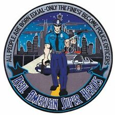 """POLICE OFFICER AMERICAN SUPER HEROS 12"""" Circle sew on high quality EMBLEM-Patch"""
