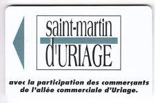 PIAF PARKING CARTE / CARD .. 15€ ST MARTIN URIAGE 38 V° 10LN MAGNETIQUE