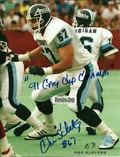Chris Schultz Argonauts CFL Football Auto 8x10 Photo