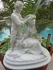 Antique French Sevres Style  Bisque/parian Grouping  Figurine Statue