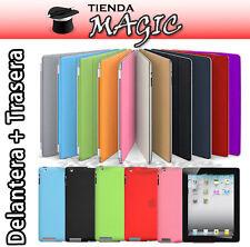 FUNDA SMART COVER +TRASERA TPU compatible nuevo iPad 3 y 2 carcasa protectora