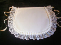 VICTORIAN / EDWARDIAN STYLE WHITE COTTON APRON # Made in England *Fast Delivery