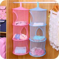 3-Layers Hanging Storage Mesh Net Home Bathroom Closet Room Kids Toys Organizer