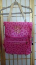 NWT Rocawear HOT PINK & GOLD logo Backpack DIAPER BAG with Baby changer liner