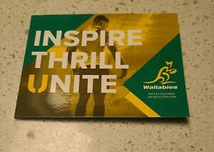 2019 $2 Wallabies Rugby World Cup Coloured Unc Coin in Folder