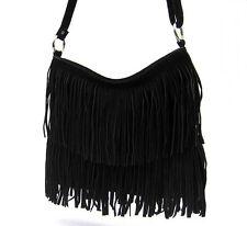 Damentaschen aus Wildleder mit verstellbaren Trageriemen und Reißverschluss