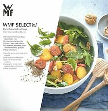 WMF Salatschale 3-teilig lava grey satin Moto Salatschüssel Salatbesteck Grau