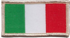 Italy Tiny Rectangular Embroidered Patch
