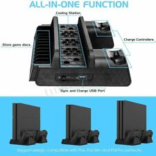 Vertical Cooling Fan Stand with Dual Controller Charger For PS4 Slim PS4 Pro