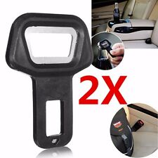 2x Universal Car Safety Seat Belt Buckle Alarm Stopper Clip Clamp Warning Opener