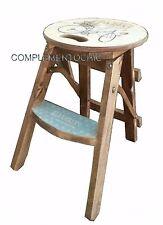 Sgabello shabby in vendita ebay for Scaletta decorativa