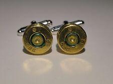7.62 x 39 mm Cufflinks -- Ammo Ammunition Brass Bullet Caliber 7.62x39mm NATO