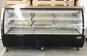 """Deli Case New 72"""" 82"""" black glass  Refrigerated Display Bakery Pastry Meat"""