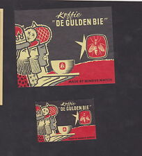Ancienne  étiquette  Allumettes Belgique BN22372 Café l'Abeille d'Or Rois Mages