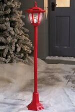 "Christmas Outdoor Decoration Solar Lamp Post Red Snowman Height 105cm (41"")."